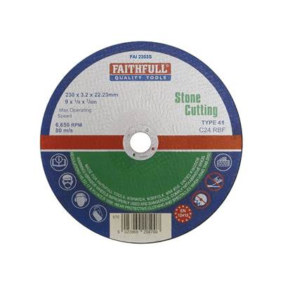 Faithfull Stone Cut Off Disc 230 x 3.2 x 22mm