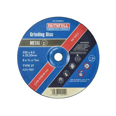 Faithfull Depressed Centre Metal Grinding Disc 230 x 6.5 x 22mm