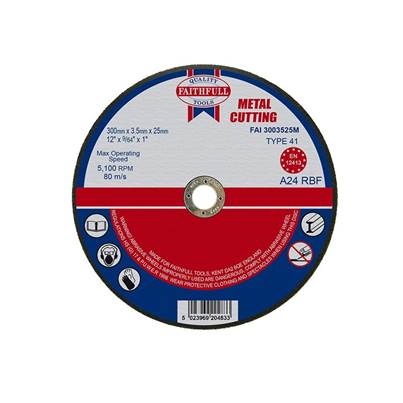 Faithfull Metal Cut Off Disc 300 x 3.5 x 25mm