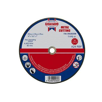 Faithfull Metal Cut Off Disc 350 x 2.8 x 25mm