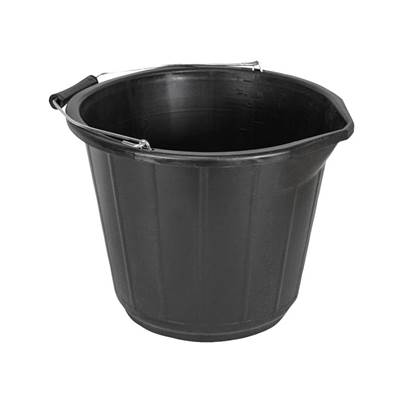 Faithfull Bucket 3 gallon (14L)  - Black