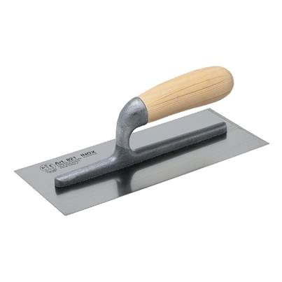 Faithfull 820 Plasterer's Finishing Trowel Stainless Steel Wooden Handle 11 x 4.3/4in