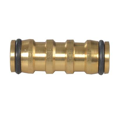 Faithfull Brass 2-Way Hose Coupling 12.5mm (1/2in)