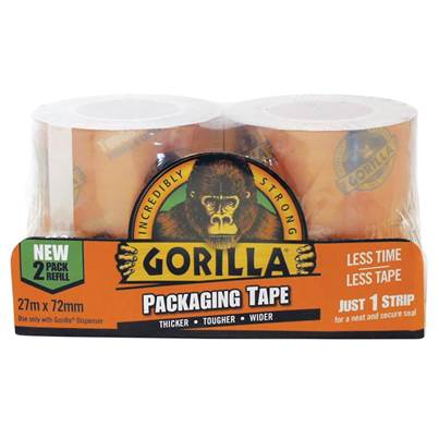 Gorilla Glue Gorilla Packaging Tape Refill 72mm x 27m  (Pack 2)