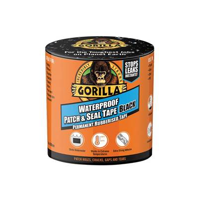 Gorilla Glue Gorilla Waterproof Patch & Seal Tape 101.6mm x 3.04m Black