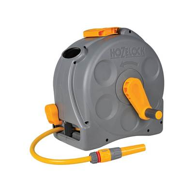 Hozelock 2415 25m 2-in-1 Compact Hose Reel + 25m of Starter Hose