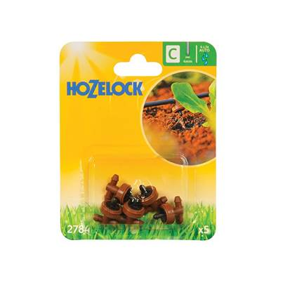 Hozelock In Line Pressure Dripper 4mm (5 Pack)