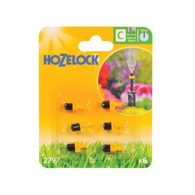 Hozelock Mist Micro Jet 4mm/13mm (6 Pack)