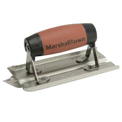 Marshalltown M180D Stainless Steel Groover Trowel Durasoft® Handle 6 x 3in