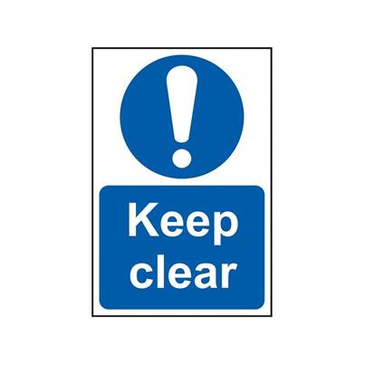 Scan Keep Clear - PVC 200 x 300mm