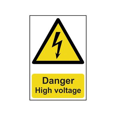 Scan Danger High Voltage - PVC 200 x 300mm