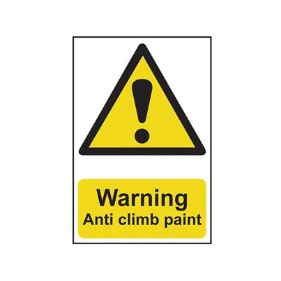 Scan Warning Anti Climb Paint - PVC 200 x 300mm