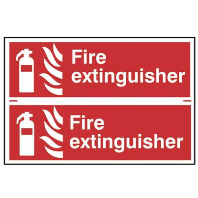 Scan Fire Extinguisher - PVC 300 x 200mm