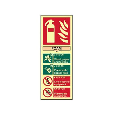 Scan Fire Extinguisher Composite Foam - Photoluminescent 75 x 200mm