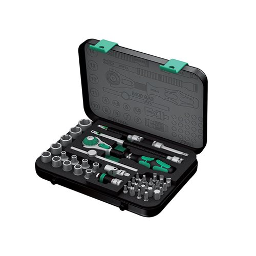 Wera Zyklop SA2 Socket Set of 42 Metric 1/4in Drive
