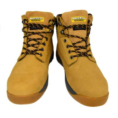 UKTB Workwear Nubuck Tan Steel Toe Safety Boot
