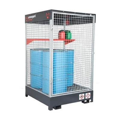 Armorgard DrumCage COSHH Compliant Storaage Unit for liquids, gases and solids 1215x1265x2080