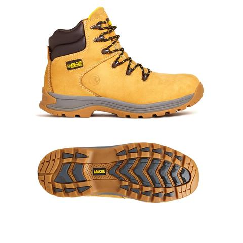 Apache Safety Hiker Work Boot S3 Wheat Nubuck