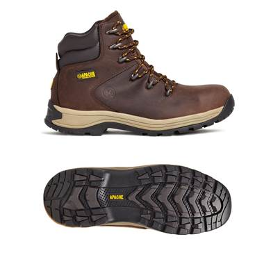 Apache AP315CM S3 Brown Waxy Safety Hiker Boot