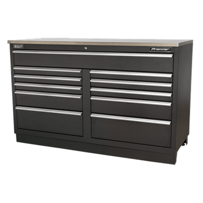 Sealey Tools Modular Floor Cabinet 11 Drawer 1550mm Heavy-Duty