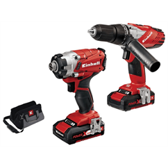 Power-X-Change Combi & Impact Driver Twin Pack 18V 2 x 1.5Ah Li-ion