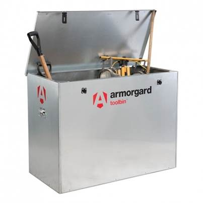 Armorgard TOOLBIN Galvanised Storage Box 1165 x 560 x 860mm