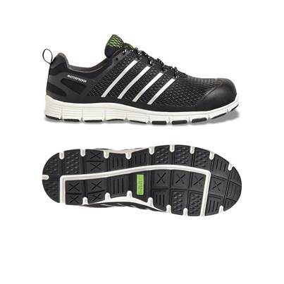 Apache Black Fine Moulded Waterproof Trainer