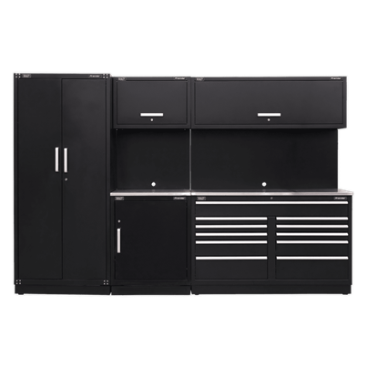 Sealey Tools Modular Storage System Combo - Stainless Steel Worktop (W x H x D) 3100mm x 2110mm x 640mm