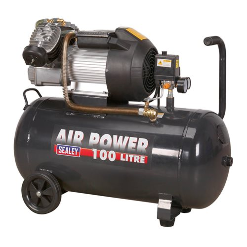 Sealey Tools Compressor 100ltr V-Twin Direct Drive 3hp