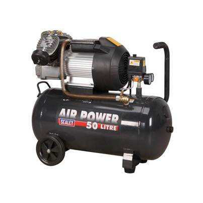 Sealey Tools Compressor SAC5030VE 50ltr V-Twin Direct Drive 3hp