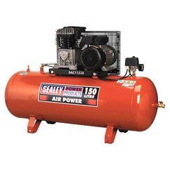 Compressor 150ltr Belt Drive 3hp with Cast Cylinders