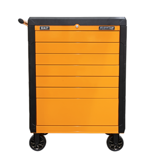 Sealey Tools APPD7O - Rollcab 7 Drawer Push-To-Open Hi-Vis Orange