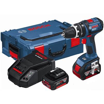 Bosch GSB18VLI 18V Combi Drill Inc Charger & 2 x 3 a/h Batteries