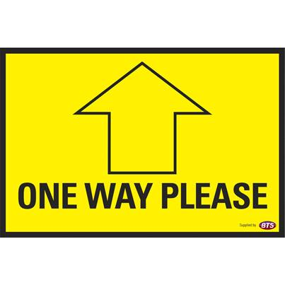BTS Floor Sign - One Way 250mm x 165mm