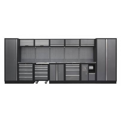 Sealey Tools Modular Storage System Combo - Stainless Steel Worktop (W x H x D) 4915mm x 2000mm x 460mm