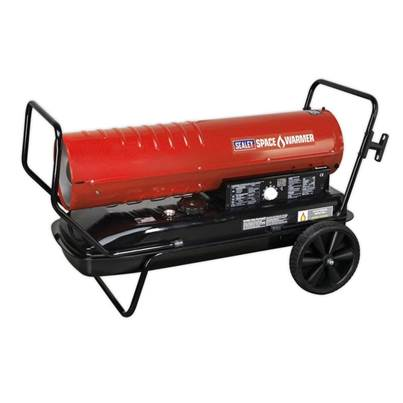 Sealey Tools Space Warmer® Paraffin/Kerosene/Diesel Heater 215,000Btu/hr with Wheels