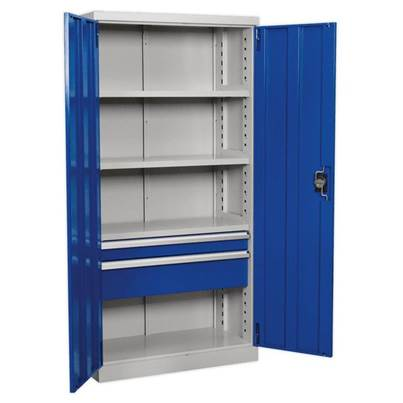 Sealey Tools Industrial Cabinet 2 Drawer 3 Shelf 1800mm