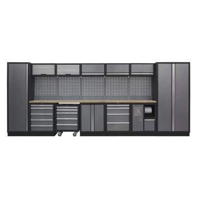 Sealey Tools Modular Storage System Combo - Pressed Wood Worktop (W x H x D) 4915mm x 2000mm x 460mm