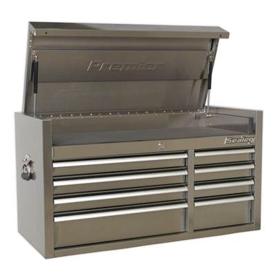 Sealey Tools Topchest 8 Drawer 1055mm Stainless Steel Heavy-Duty