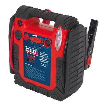 Sealey Tools RoadStart® Emergency Jump Starter with Air Compressor 12V 750 Peak Amps