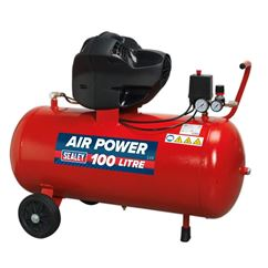Compressor 100ltr V-Twin Belt Drive 3hp Oil Free