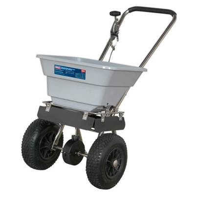 Sealey Tools Stainless Steel Broadcast Salt Spreader 37kg Walk Behind