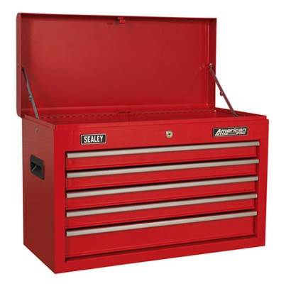 Sealey Tools Topchest 5 Drawer with Ball Bearing Slides - Red