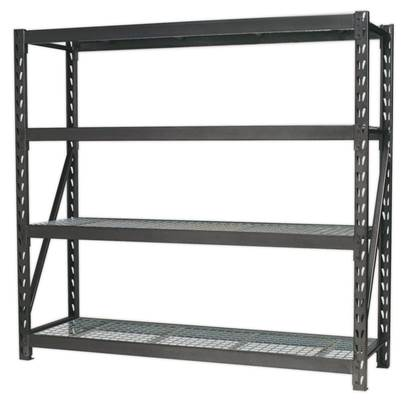 Sealey Tools Heavy-Duty Racking Unit with 4 Mesh Shelves 640kg Capacity Per Level 1956mm