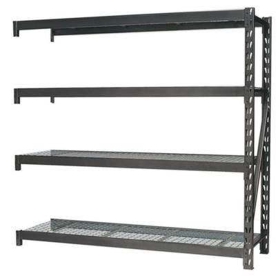 Sealey Tools Heavy-Duty Racking Extension Pack with 4 Mesh Shelves 640kg Capacity Per Level