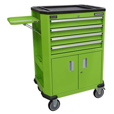 Sealey Tools Tool Trolley with 4 Drawers & 2 Door Cupboard AP980MTHV