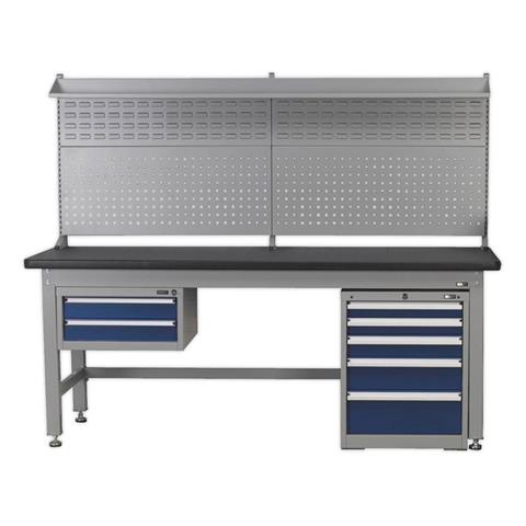 Sealey Tools 1.5m Complete Industrial Workstation & Cabinet Combo