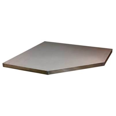 Sealey Tools Stainless Steel Worktop for Modular Corner Cabinet 865mm