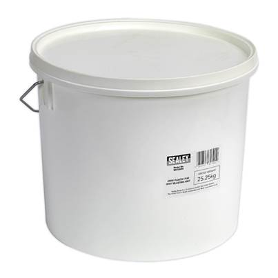 Sealey Tools Shot Blasting Grit 25kg Plastic Tub