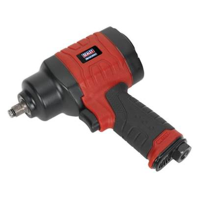 "Sealey Tools Composite Air Impact Wrench 3/8""Sq Drive Twin Hammer"